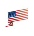 usa flag on a white vector image vector image