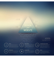 web and mobile interface template Corporate vector image vector image