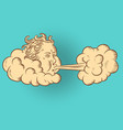 wind is not blowing head in cloud vector image