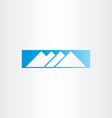 Winter snow mountain blue icon vector image