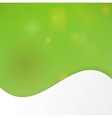 Green wave template vector image