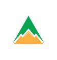 triangle mountain business logo vector image