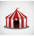 circus tent on a bright background vector image