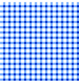 Seamless retro white-blue square tablecloth vector image