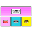 80s or 90s Stylish Icon Set with Retro Colours vector image vector image