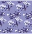 Abstract tropical leaves and flowers seamless