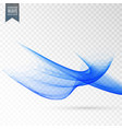 abstract wave effect on transparent background vector image vector image