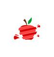 apple fruit logo vector image vector image