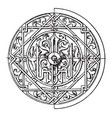 arabian circular panel is a 16th century vector image vector image