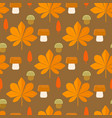 autumn foliage concept seamless pattern vector image vector image