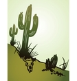 Cactus saguaro background vector image vector image