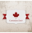Canada Day patriotic Badge with Ribbon vector image vector image