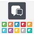 Chat sign icon Speech bubbles symbol vector image vector image