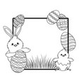 chick with bunny ears vector image