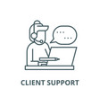 Client support line icon client support
