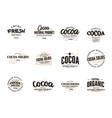 cocoa logo set vector image vector image