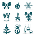 collect christmas icons vector image vector image