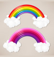 colorful rainbow set vector image vector image
