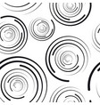concentric circles seamless pattern vector image