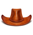 cowboys leather hat vector image vector image