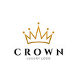 crown logo king royal icon queen logotype vector image