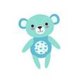 cute light blue teddy bear soft plush toy stuffed vector image vector image
