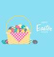 easter in flat style vector image vector image
