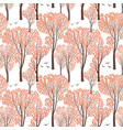 fall nature seamless pattern autumn trees forest vector image vector image