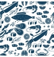 Fish sushi and seafood seamless background vector image vector image