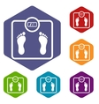 Floor scales icons set vector image vector image