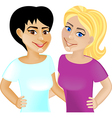 Girlfriends vector image vector image