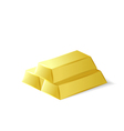 Gold bars investment tool vector image
