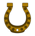 golden horseshoe icon vector image vector image