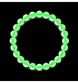 Green Pearl Necklace vector image vector image