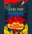 halloween card with demon skeleton and mummy vector image vector image