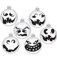 halloween ghost ornaments vector image vector image