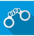 Handcuffs icon flat style vector image vector image