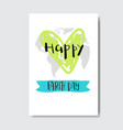 happy earth day cute greeting card or postcard eco vector image vector image