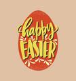happy easter inscription or seasonal holiday wish vector image