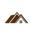 house roof abstract business company logo i vector image vector image