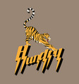 hungry hand drawn lettering vector image vector image