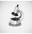 Isolated microscope on a light background vector image