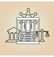 jail icon design vector image