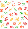 leaf signs thin line seamless pattern background vector image vector image