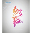 Liquid art Artistic design element vector image vector image