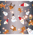 New year seamless pattern Endless Christmas vector image
