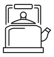 old kettle icon outline style vector image vector image