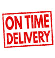 on time delivery sign or stamp vector image vector image