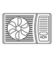 outdoor air conditioner fan icon outline style vector image vector image