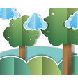 paper landscape cartoons vector image vector image